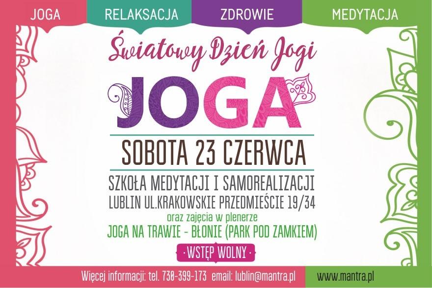 Światowy Dzień Jogi w Lublinie 2018